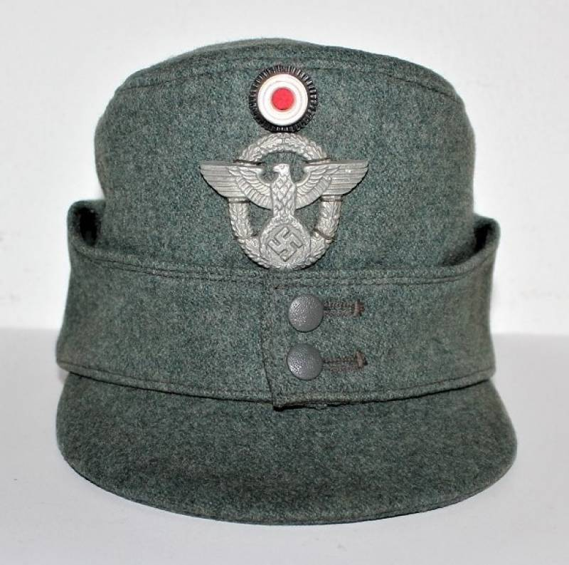 Ww2 German Police M43 Hat Badge: GERMANY HATS FIELD CAP M43 POLICE